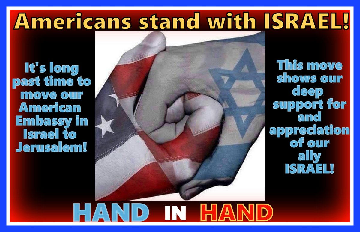 Americans #StandWithIsrael - HAND IN HAND. Forever Allies!   #ISRAEL #Jerusalem <br>http://pic.twitter.com/RM7eKMyeok #IStandWithIsrael #PJNET