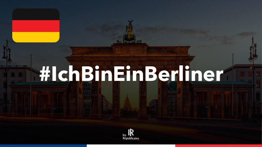 Pensées et solidarité pour nos amis Allemands. #IchBinEinBerliner #Berlin #PrayForBerlin #Germany https://t.co/q5YBVwun3a