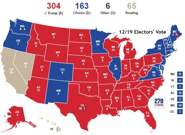 Коллегия выборщиков избрала Трампа президентом США - Цензор.НЕТ 9699
