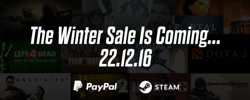 We're delighted to announce the @steam_games #SteamWinterSale is coming on the 22nd. What do you have your eyes on? https://t.co/CYBFiMGTd7