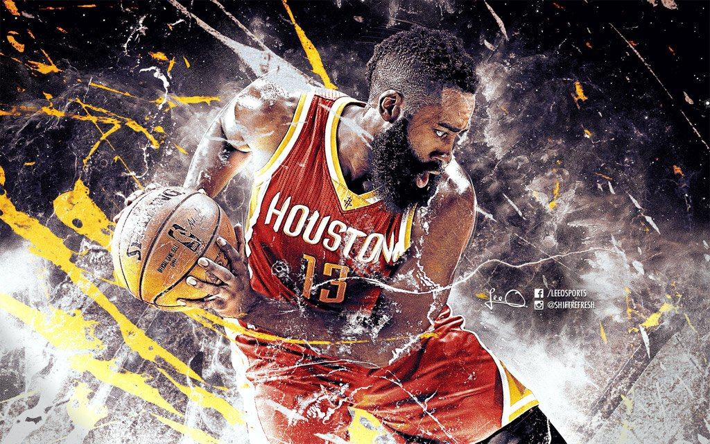 HD Wallpaper of James Harden, #1 player at the NBA's Kia Race to the MVP Ladder at the moment.