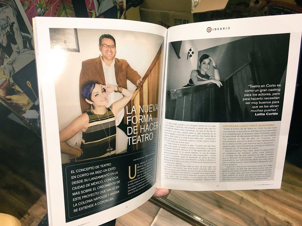 No se pierdan el reportaje de @TeatroEnCorto en @revistalidermex  con @Pacolalas y @lolacortesreal @sanborns https://t.co/PwQ4bsj7cG