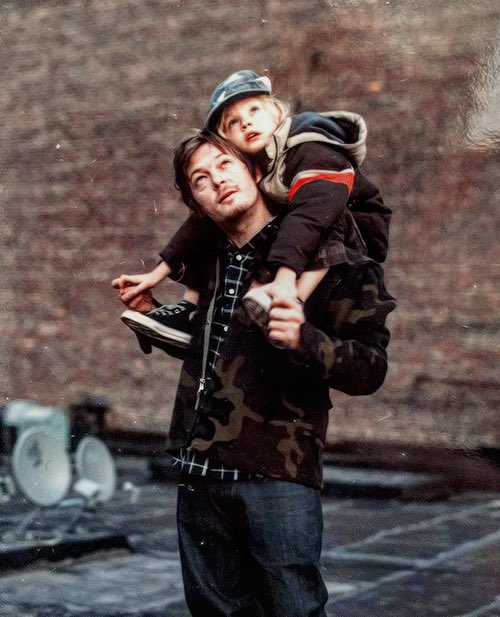 Norman Reedus And His Son