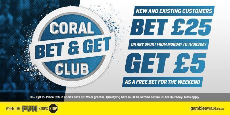 Coral betting bonus