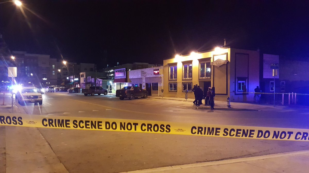 BREAKING: Denton Police confirm a man was fatally shot at the Library Bar on Fry St.  Photo: @Kyle_Martin35 https://t.co/J7pZiLIroc