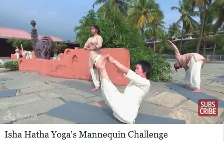 Mannequin Challenge Yoga Video