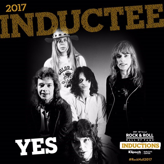 Major congrats to @yesofficial who will be inducted into The @rockhall Class Of 2017