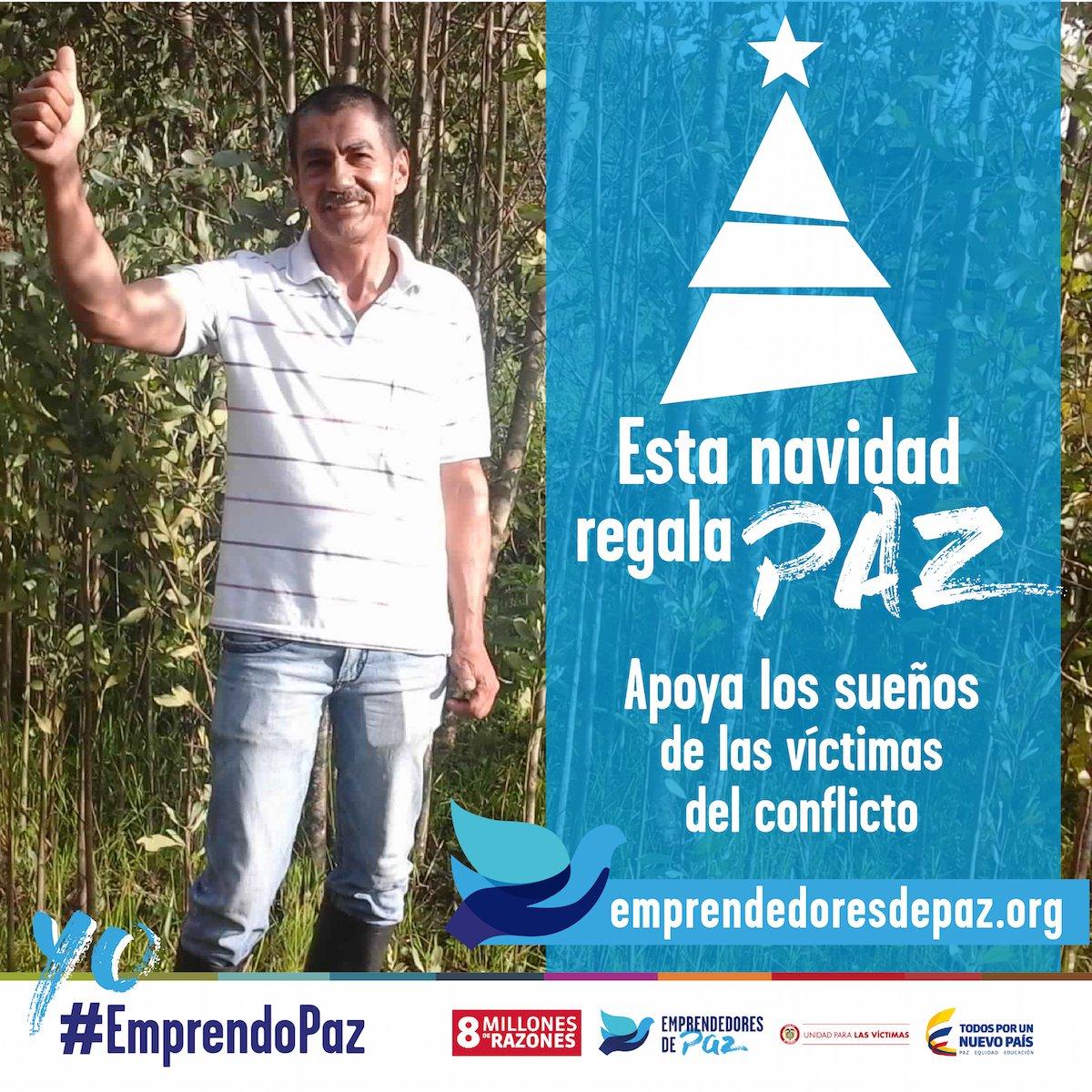 Esta #navidad regala #PAZ. Dona a las víctimas del conflicto en #Colombia Ingresa: https://t.co/dN2hyFoWYi #8MillonesDeRazones #EmprendoPaz https://t.co/fVLIJ6ARLv