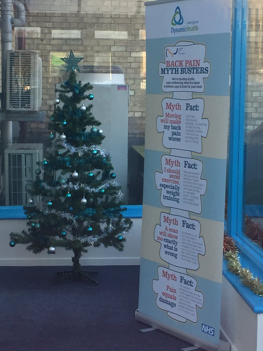 dynamichealth on twitter jaynedavies61 ccs_nhst mythbuster poster in peterborough plus a board with patient information in the foyer - Mythbusters Christmas Tree
