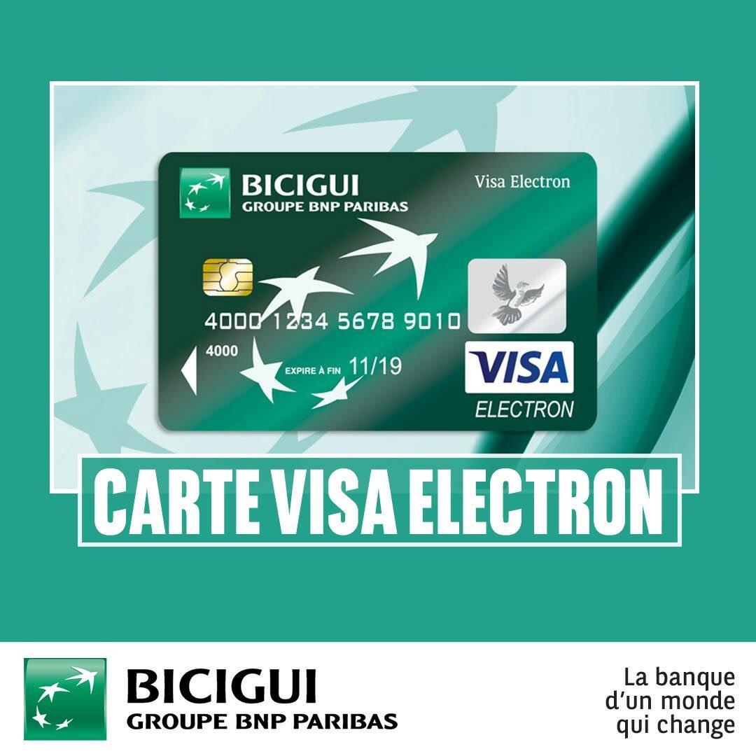 carte visa electron bnp BICIGUI on Twitter: