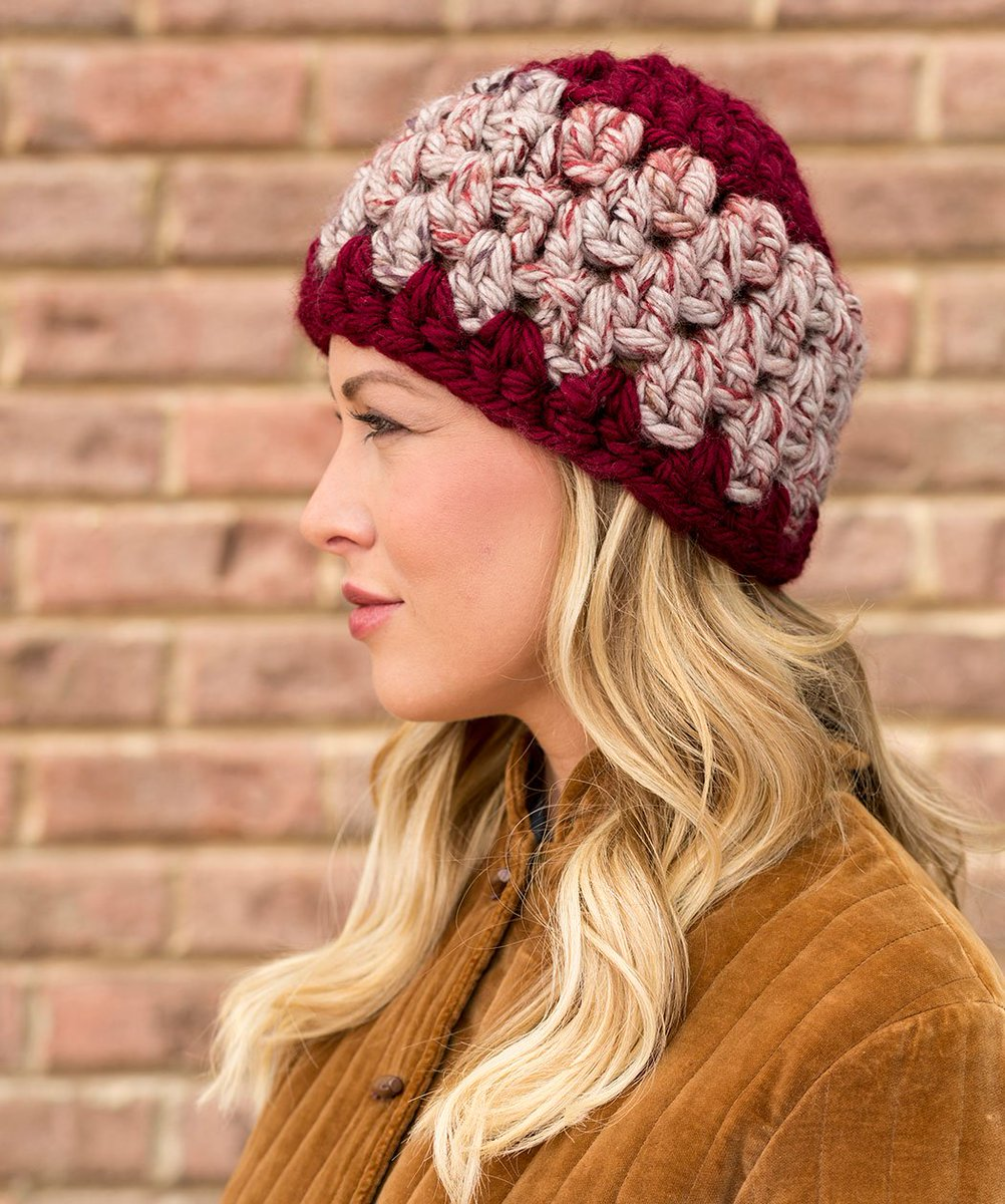 Red Heart Yarns On Twitter Granny Stitch Hat Free Crochet Pattern