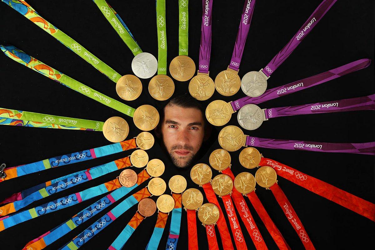 Resultado de imagen para Michael Phelps posa 23 oros