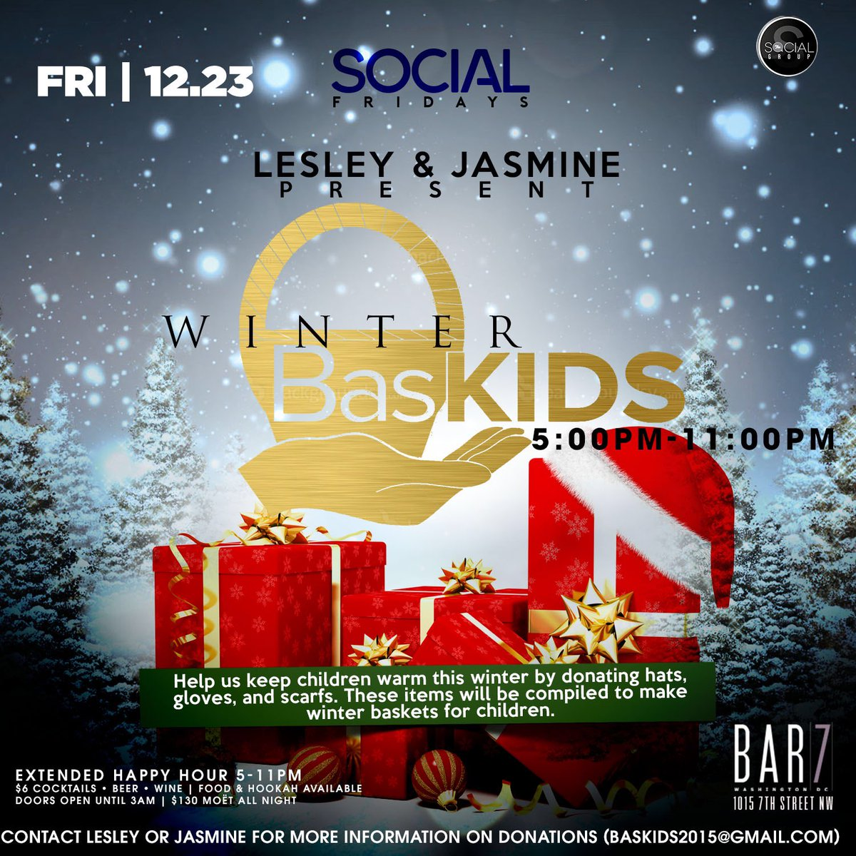 This Friday Happy Hour! Come Out & Support BasKids As We Collect Winter Accessories For The Kiddies! #BasKids #DMV https://t.co/198VSkNuxA