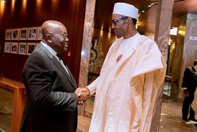 President Muhammadu Buhari, on Tuesday, December 20, 2016, Receives President-Elect Of The Republic Of Ghana H.E. Nana Akufo-Addo In State House, Abuja.
