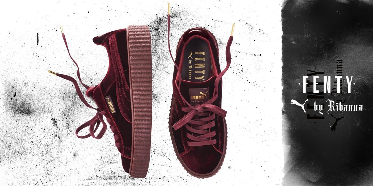 Miss out on the  PUMA by  rihanna Velvet Creepers  Here is your chance 3e6f25c6ed