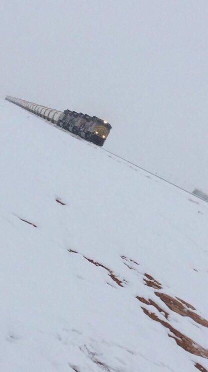 لو قال لك واحد قبل عشر سنين  بيكون بالسعودية قطار يمر من بين الثلوج ممكن محد يستوعبه ☃️❄️