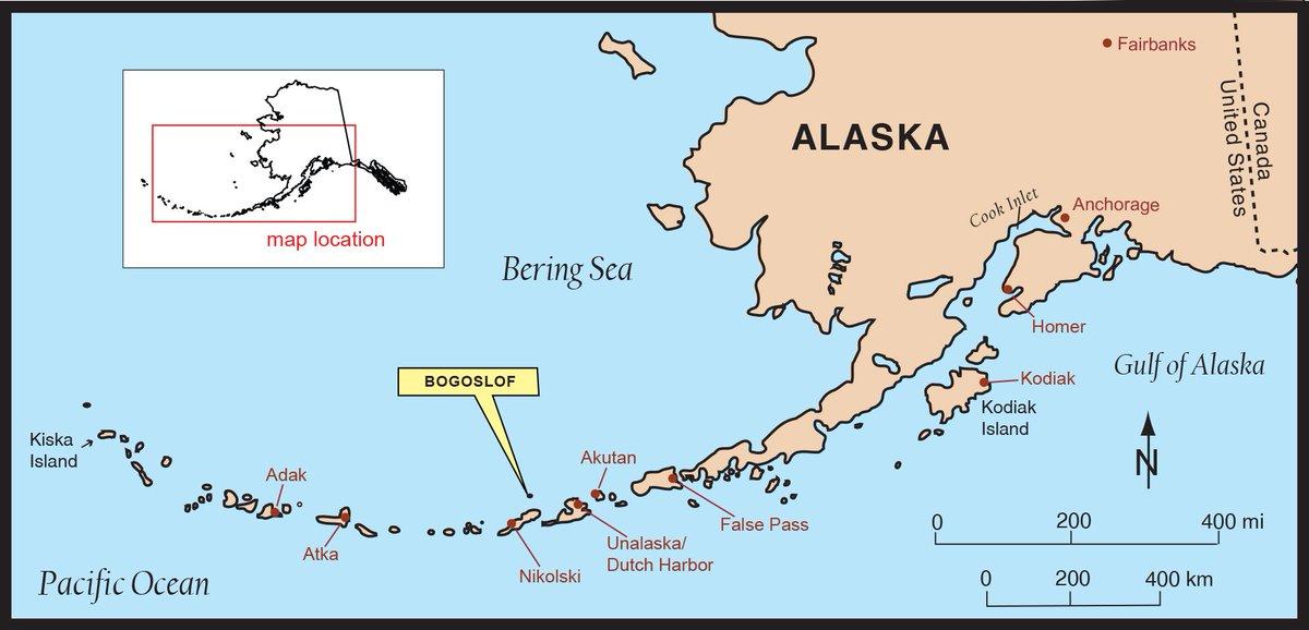 Alaska Map Volcano.Alaska Avo On Twitter Index Map Showing Location Of Bogoslof