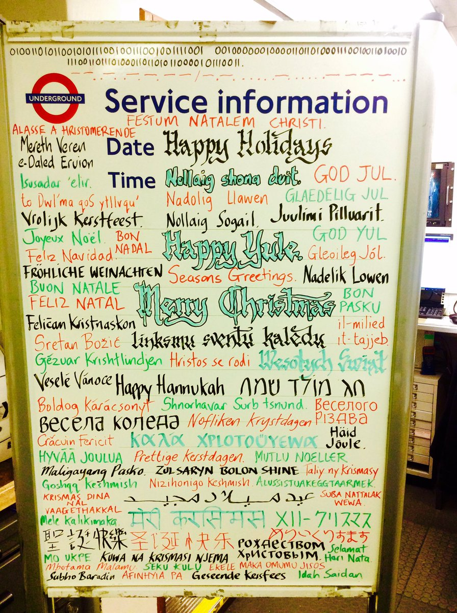 Thanks to @piccadilly_west for spreading #Christmas cheer in languages from across the world! 🎅🏼 #LondonIsOpen  https://t.co/xzWNwg2o3i