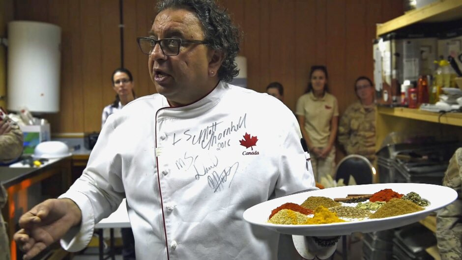 Vikram Vij brings holiday cheer to deployed Canadian Soldiers, with Indian food @CBCNews https://t.co/556dcK414y https://t.co/j0jrtVwy3h