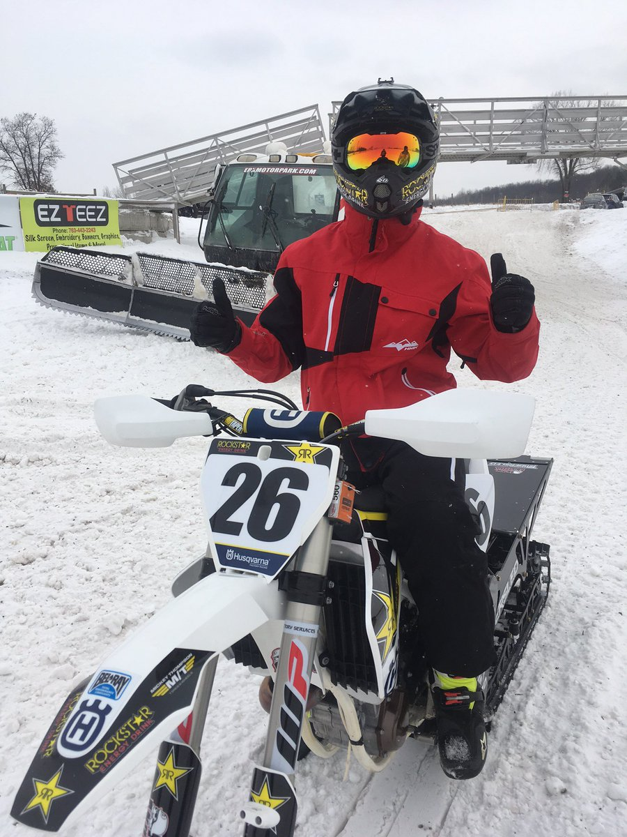 It's official I'll be at winter @XGames this year! #26 going for it in snowbikecross https://t.co/XXjDIGO6wZ