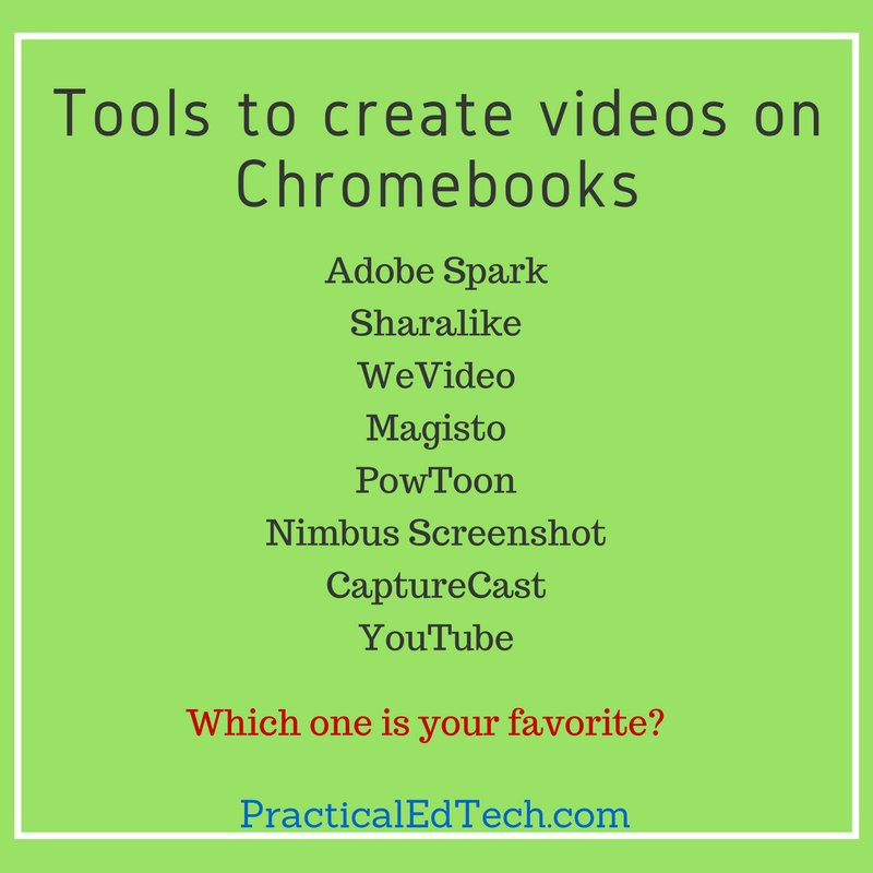 8 ways to create videos on Chromebooks. Which is your favorite? https://t.co/Yr3v0xBP2k https://t.co/Xxw4j99Zbq