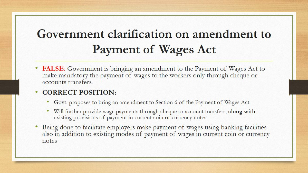 Option to pay wages in cash will continue to be available for