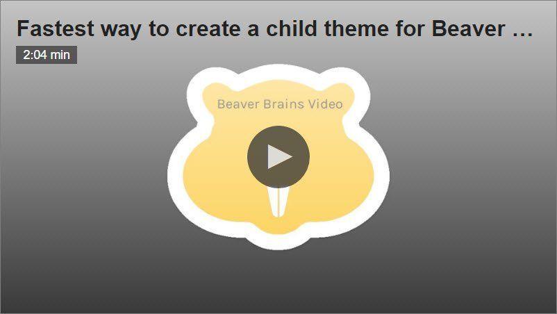 How fast can we create a new child theme for @BeaverBuilder? » Beaver Brains https://t.co/d3z7VXMkEv #WordPress #Webdev