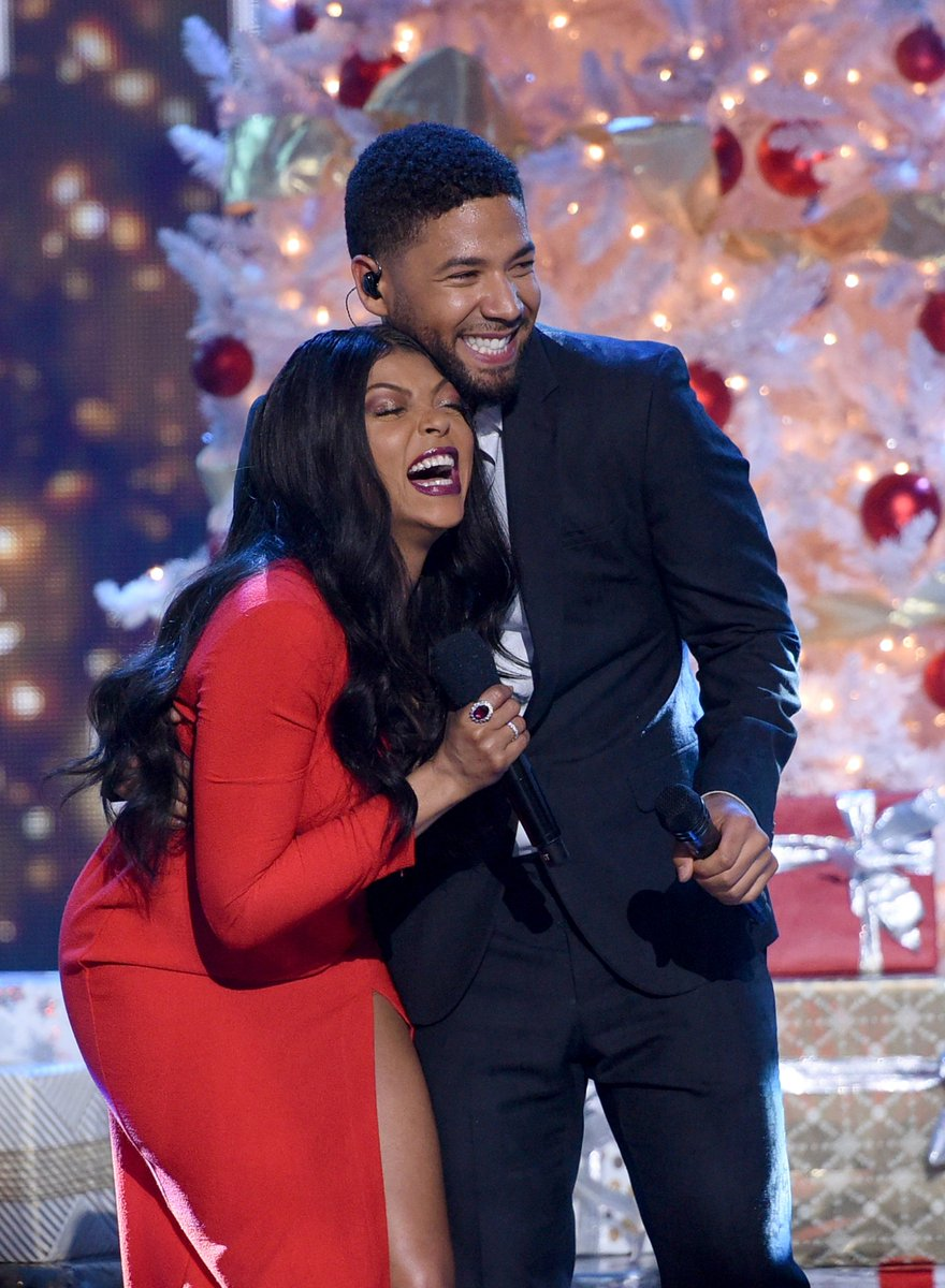 It\'s always a good time when @TherealTaraji and @JussieSmollett are together! #TarajisWhiteHotHolidays