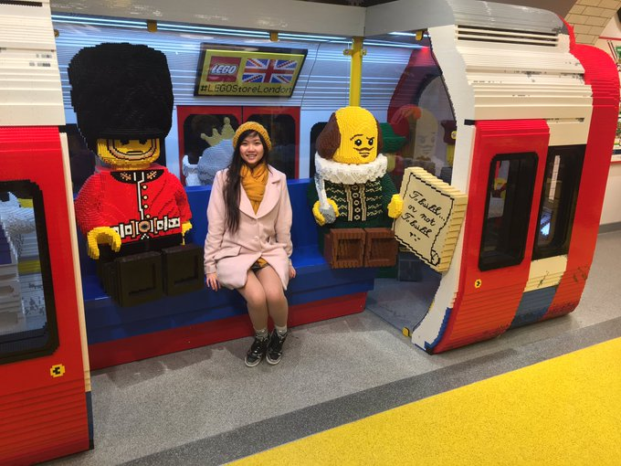 1 pic. The underground tube train made from lego at lego's new flagship store! Lego is so much fun! https://t