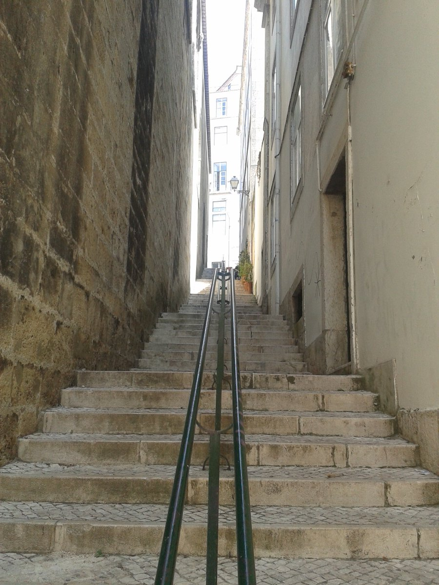 Some stairs in #Alfama , #Lisbon . Oldest civil parish . Discover #Portugal . https://t.co/PpmYBFbDPj