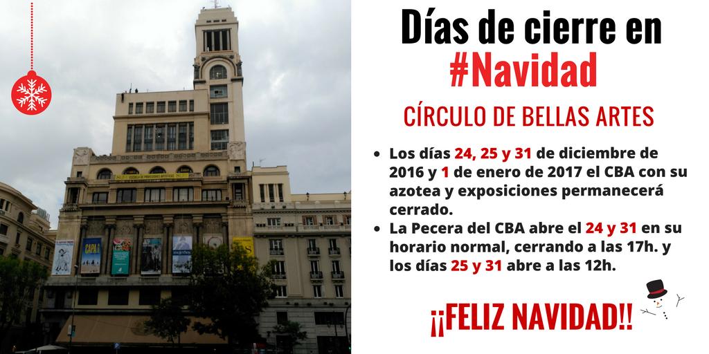 Círculo De Bellas Artes On Twitter En Navidad El Cba