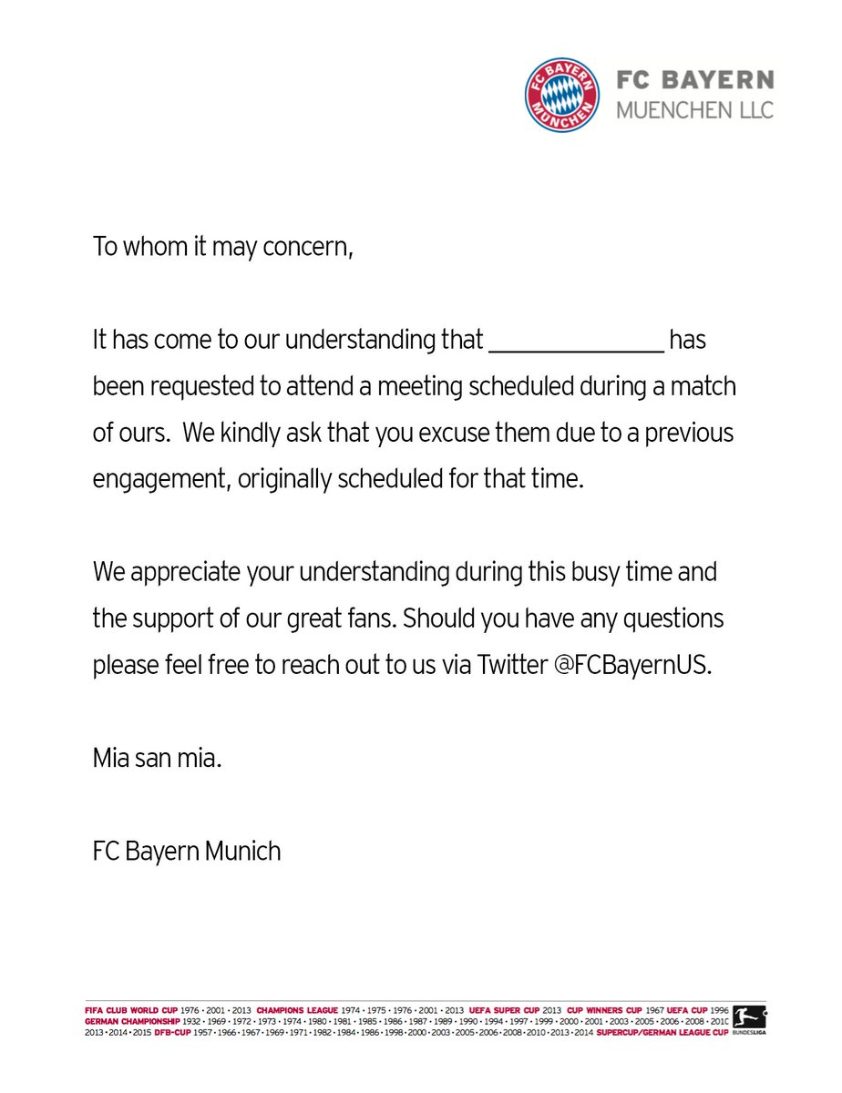 Fc bayern us on twitter in case you need an excuse letter to watch fc bayern us on twitter in case you need an excuse letter to watch fcbrbl today spiritdancerdesigns Gallery