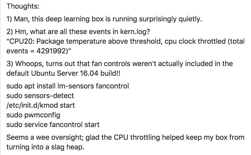 PSA: Ubuntu Server 16.04 ships without fancontrol turned on by default. https://t.co/UVOH7QIWwx