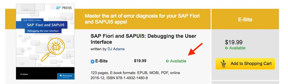 Woohoo, my new @sappress book on #Fiori and #UI5 debugging is now available :-) https://t.co/KNoaHQ1ZMb https://t.co/yz9uP4s7wV