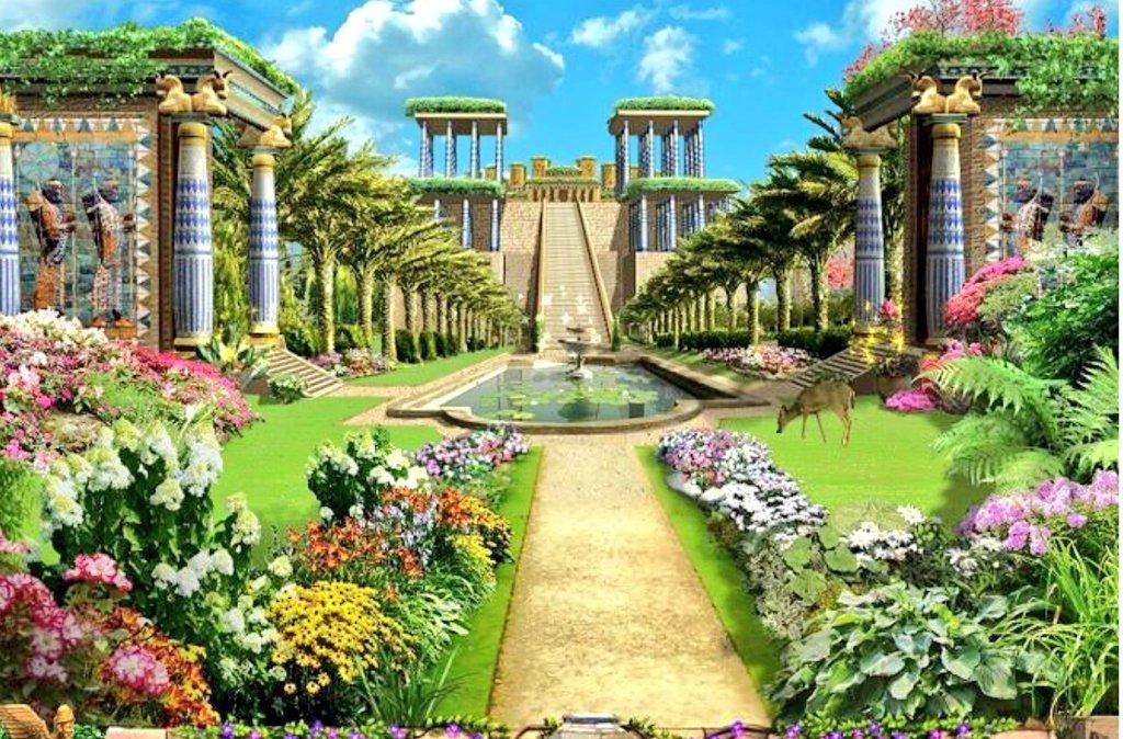Historia antigua on twitter idealizaci n de los jardines for Los jardines colgantes de babilonia