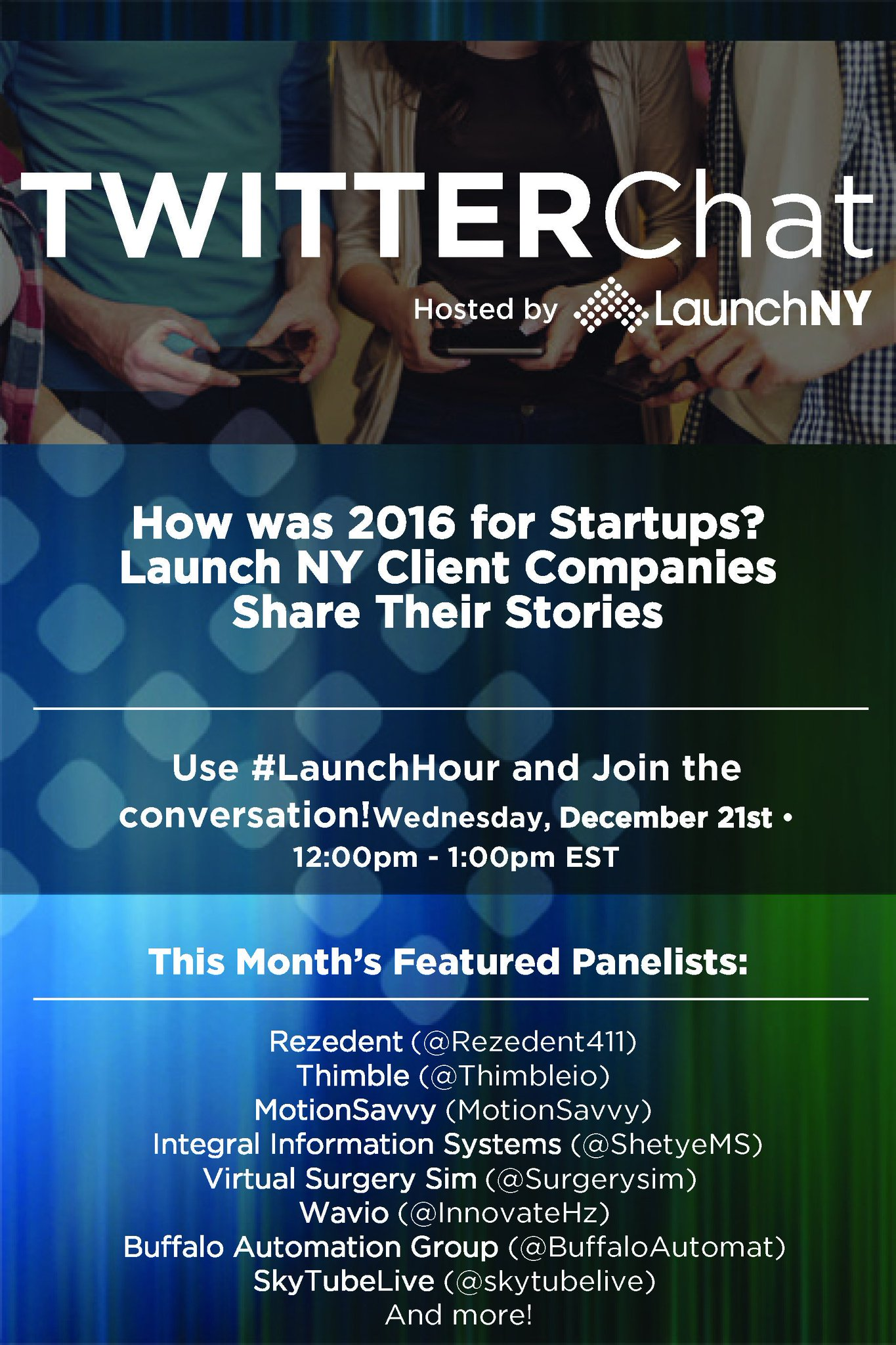 Don't forget #LaunchHour starts at noon today! https://t.co/JtwCyoqiv9