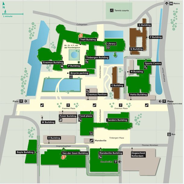 erasmus university campus map Rsm Mba On Twitter The Erasmus University Campus Is Turning erasmus university campus map