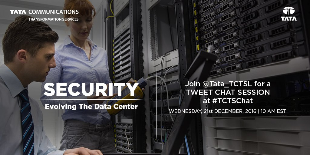 Let the countdown begin! Join us at 10am EST today for a #TCTSChat on the evolution of #datacenter #security #digital #transformation https://t.co/SjwXTGrqWq