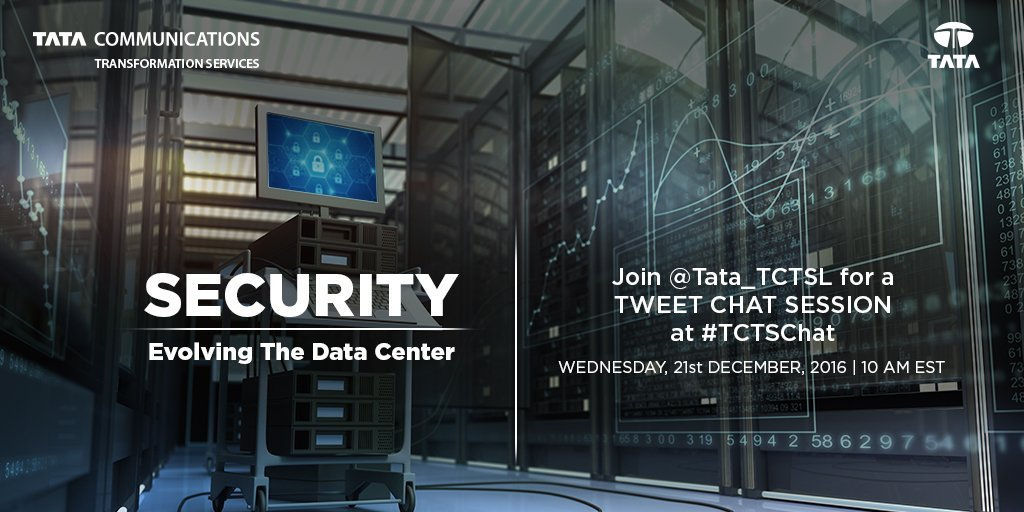15 min to #TCTSChat w/ @Tata_TCTSL experts on the strategic priorities to secure #datacenters. Join us at 10am ET today! https://t.co/lVBUhYQnUR