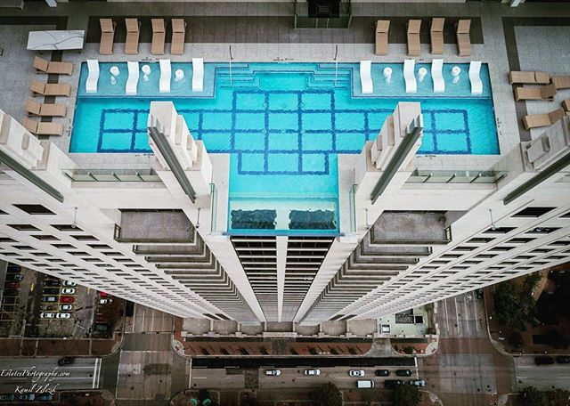 Would you swim in a glass pool hovering 500 feet over the - Above ground swimming pools houston ...