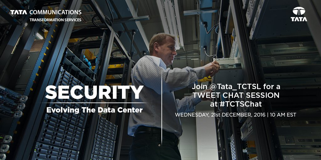 Welcome everyone! Happy to start  the #TCTSChat on Security- Evolving the Data Center. Look forward to a great interaction. https://t.co/j0E6Qq5Pe9