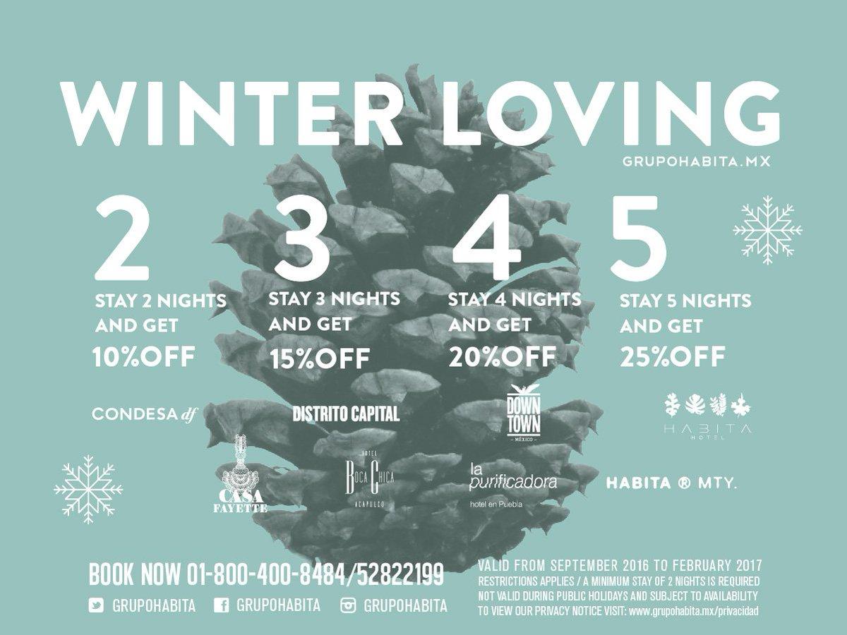 Because #habitaLOVESyou #WinterLoving Book now 01 800 400 8484 #wishyouwerehere https://t.co/y6yeVlKMbk