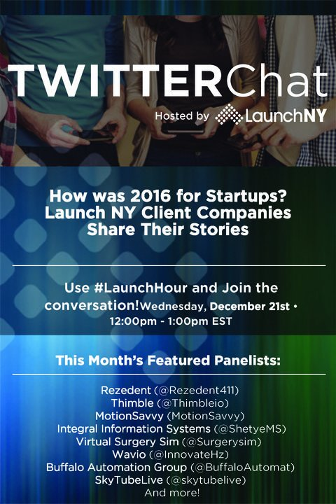 .@AFRLCommAcademy alum @skytubelive will be taking part in a @Twitter chat hosted by @Launch_NY at 12pm EST today. #LaunchHour https://t.co/bnygXJgo7S
