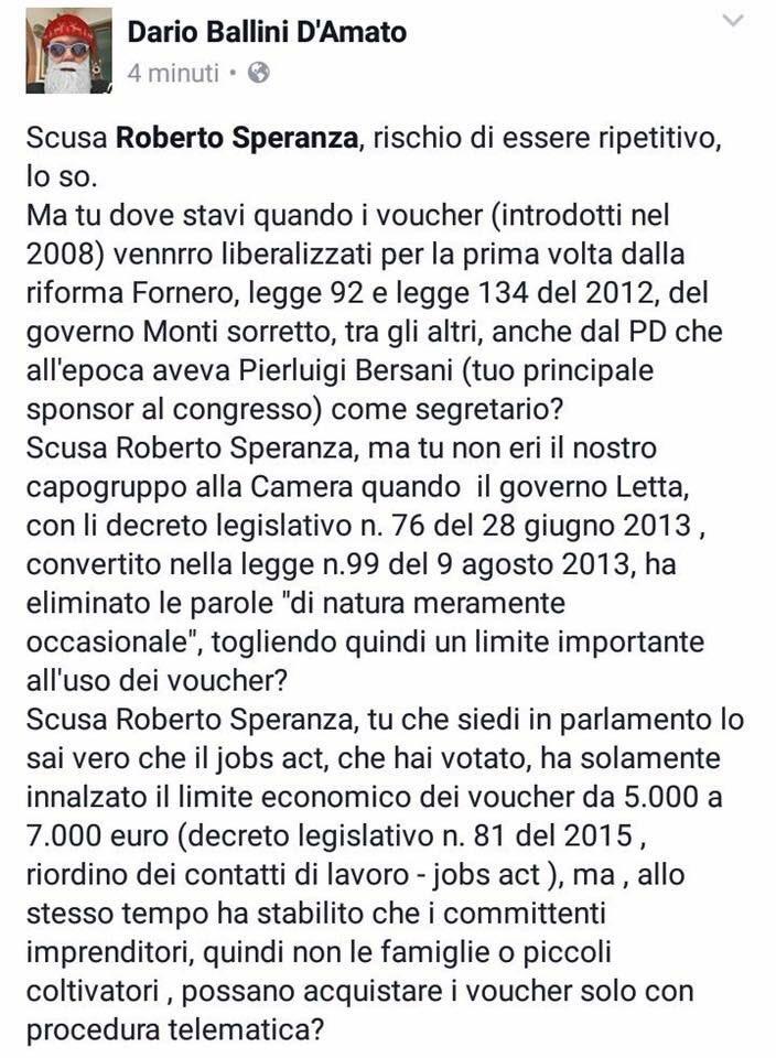 Visto che banna tutti, sarebbe utile che queste domande di @DarioBallini a @robersperanza le facesse un giornale https://t.co/fNQ1Aufl44