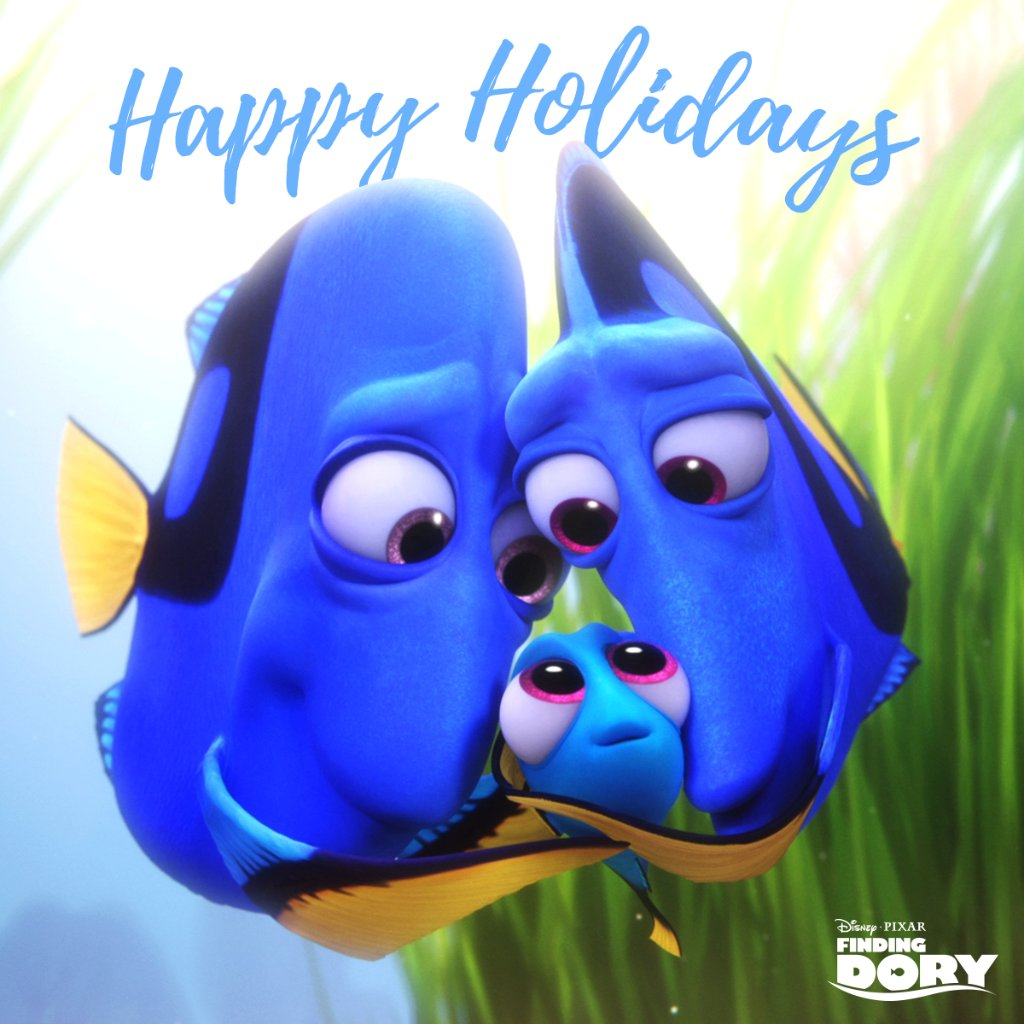Happy holidays from Dory's family to yours. Bring home the lovable adventure today! https://t.co/gztHrtRtDx https://t.co/ehsJHP7Ebb