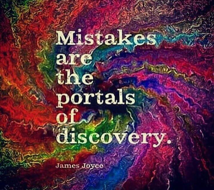 #Mistakes are the portals of discovery. #JoyTrain #SuccessTRAIN #MondayMotivation RT @NADIANASREDDINE<br>http://pic.twitter.com/7n2OQfdcQD