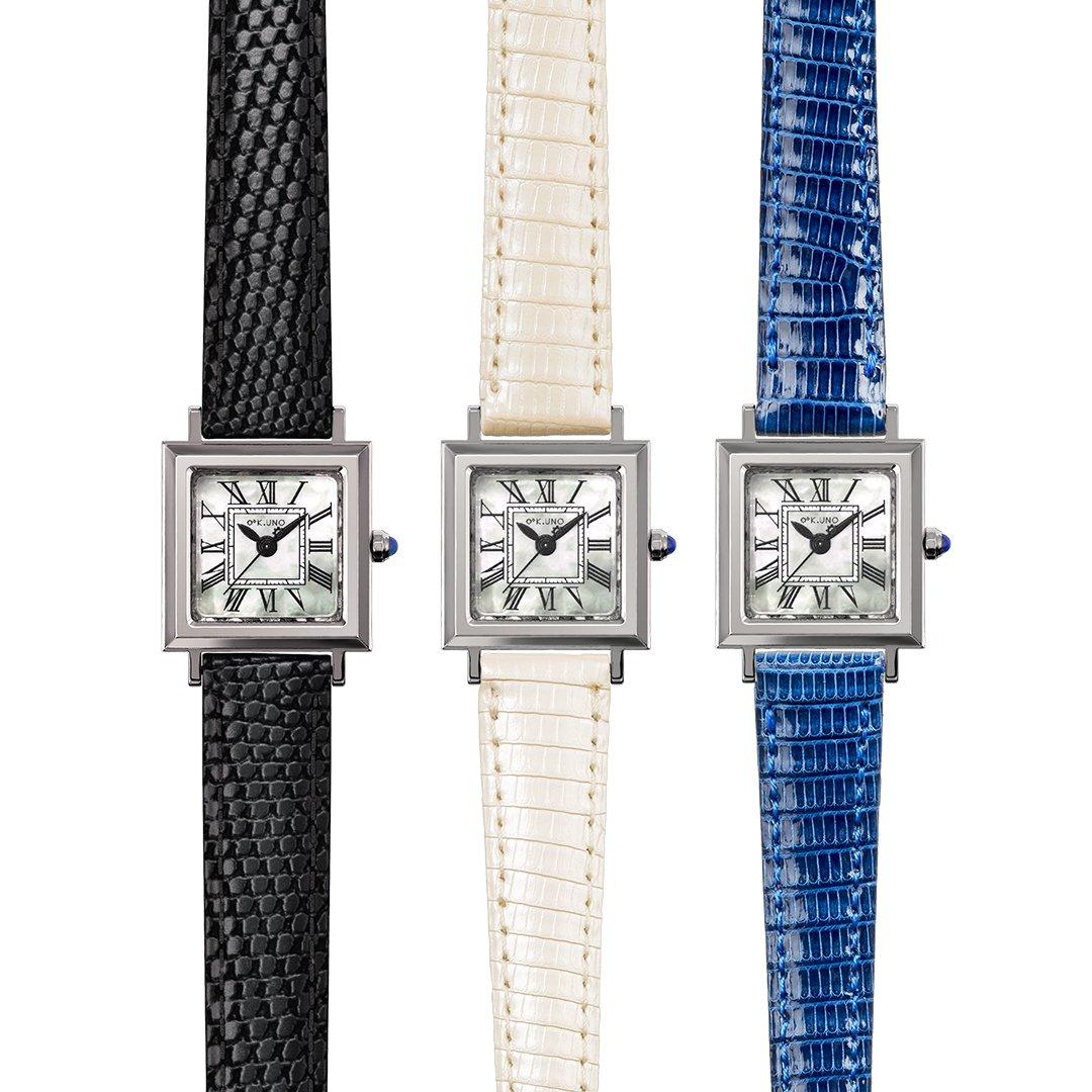 79c33b3987 クリスマスプレゼントにおすすめな、ケイウノのジュエリーウォッチ。 革ベルトの色を自由にカスタムできるクオーツ式のタイプや、シンプルで実用性のある機械式 時計、 ...