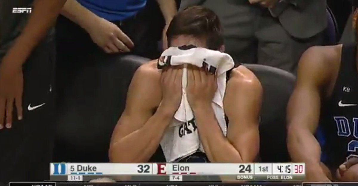 Image result for Grayson allen meltdown