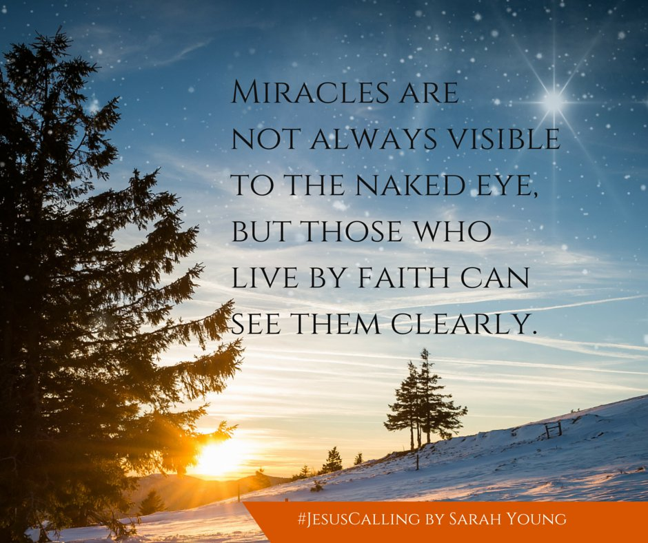 """Living by faith, rather than sight, enables you to see My Glory."" #JesusCalling https://t.co/I6uYNnCOGu"