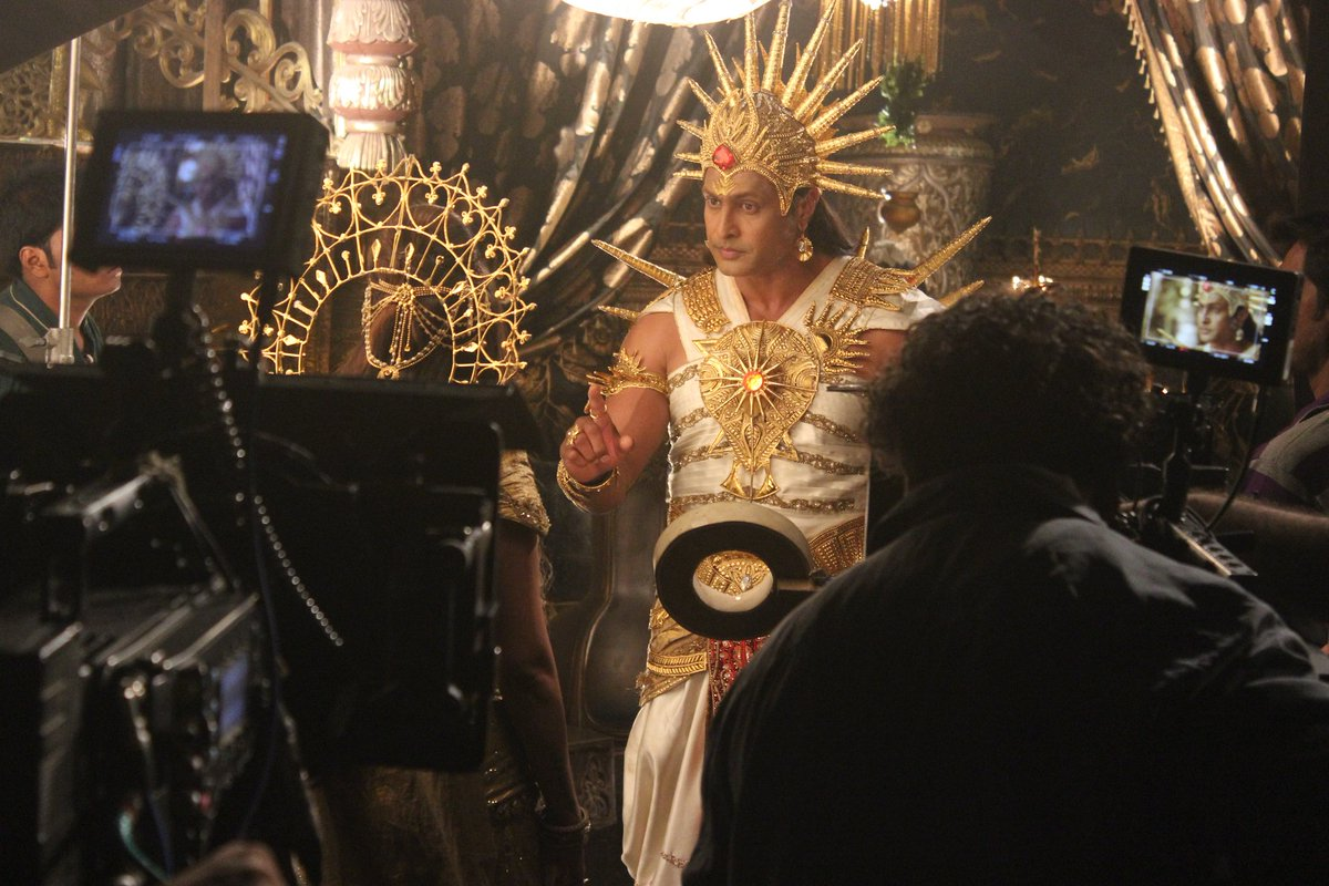 Behind the Scenes...! Much fun on the Sets of Shani! #swastikproductions #kpdshani #colorstv